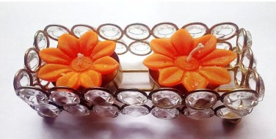 Azone Shopping Crystal Scented Tealight Circle Set of 2 Candle