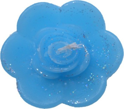 Rasmy Candles Floating Rose flower Big Blue pack of 2 Candle