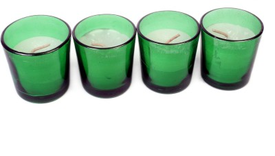 Silverlight Green Glass Votive Candle