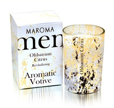 Maroma Men Votive Olibanum Citrus Candle