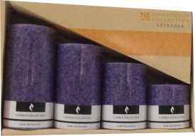 Aromatherapy Collection Candles Candle(Purple, Pack of 4)