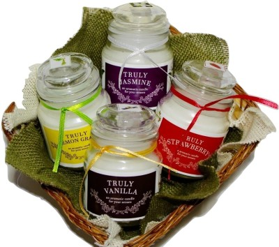 Khatte Meethe Desires Candle Basket (Pack of 4) Candle