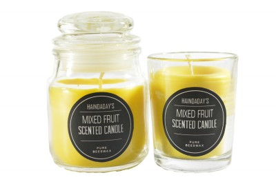 Haindaday's Mixed Fruit Scented Beeswax Jar and Votive Candle