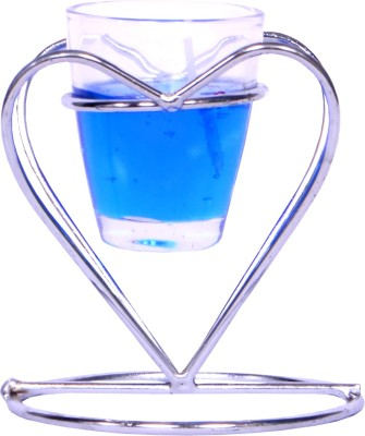 My Art Romantic Blue Candle