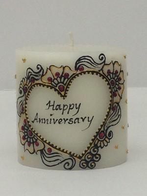Tvish Candles Tvish Decorative Gift-Happy Anniversary Candle
