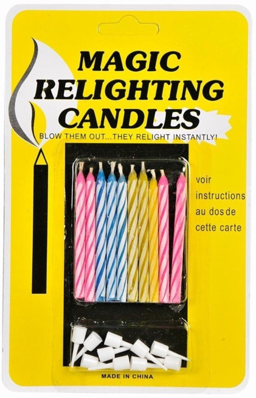Theme My Party Kids Candle(Multicolor, Pack of 10)