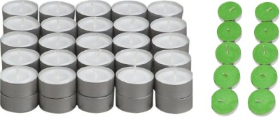 Rasmy Candles White Tealight 50pcs & Jasmine scented tealight 10 pc combo Candle