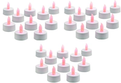 Rasmy Candles Led Tealight Multicolour Pac Of 30 Candle(Multicolor, Pack of 30)