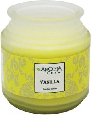 Aroma India Premium Frosted Pot Candle - Vanilla Candle