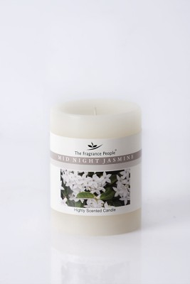 The Fragrance People Medium Pillar 3 x 4 Jasmine Candle
