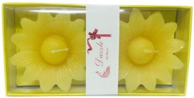 Dazzle Floater Candle Big Flower Set of 2 Candle(Multicolor, Pack of 2)
