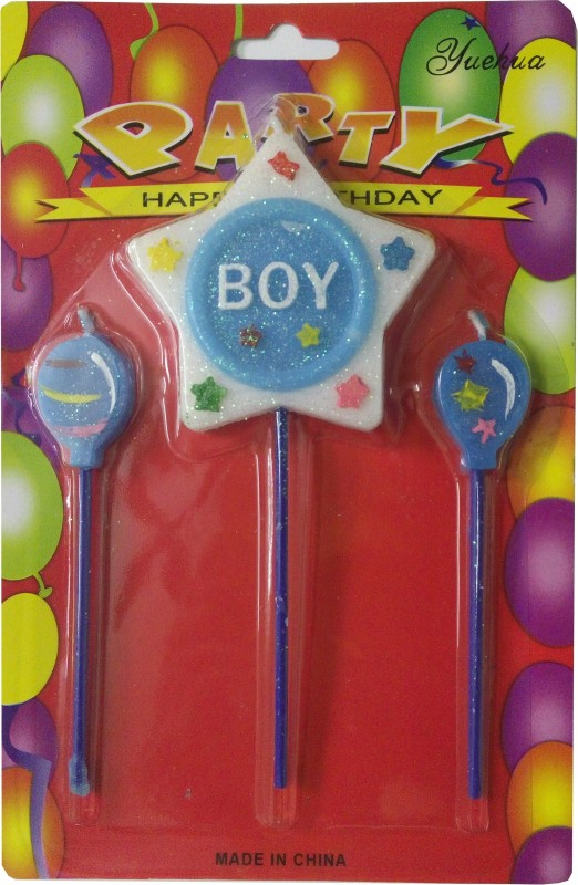 Atpata Funky Boy Star Candle(Multicolor, Pack of 1)