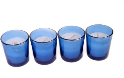Silverlight Blue Glass Votive Candle