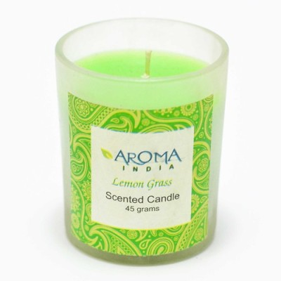 Aroma India Scented Votive Frosted Candle
