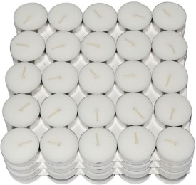 Winsky Home Decor Tealights Candle(White, Pack of 100)