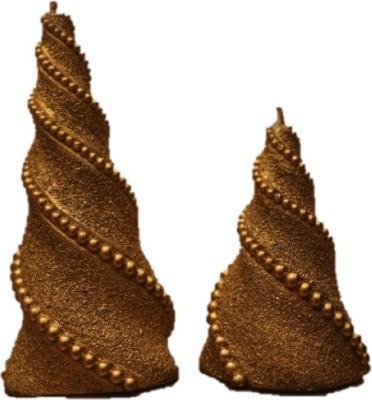 Furnish Garnish Gold Cone Spiral Candle