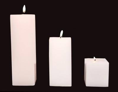 Indigo Creatives Designer White Candle