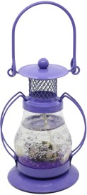 Gift4 Small scented purple lantern Candle(Purple, Pack of 1)