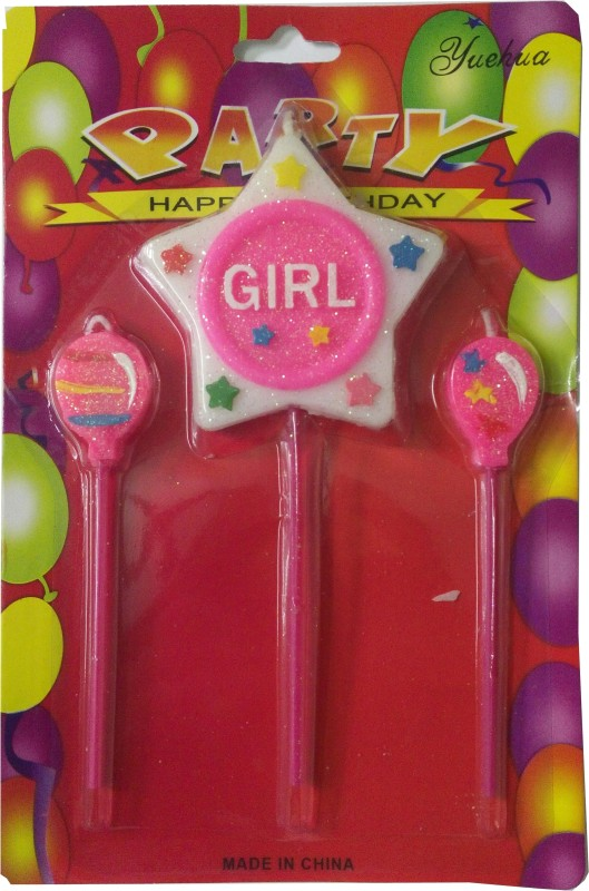 Atpata Funky Girl Star Candle(Multicolor, Pack of 1)