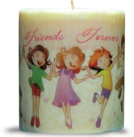 Kaarti Friendship Pillar Candles Candle(Multicolor, Pack of 1)
