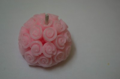 Virgo Creations Round Rose Candle