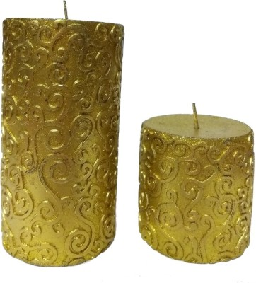 THE CANDLE DUX GOLD DESIGNER COMBO OF 2 Candle