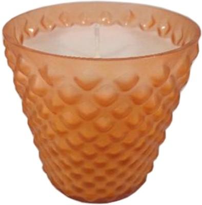 GolMaalShop Classy Orange Glass Wax Votive Candle