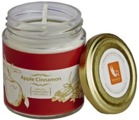 Resonance Apple Cinnamon Natural Wax Medium Jar Candle(White, Pack of 1)