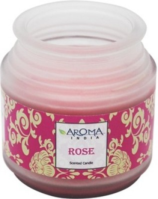 Aroma India Premium Frosted Pot Candle - Rose Candle