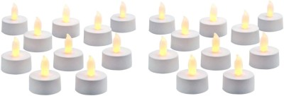 Rasmy Candles Led Tealight Pac of 20 Candle(Multicolor, Pack of 20)