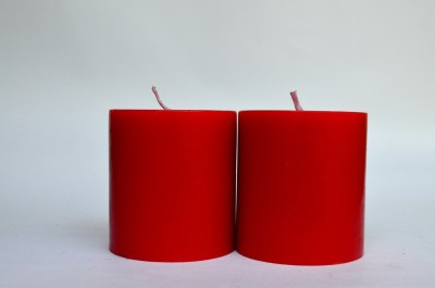 Maxime Unscented Pillar - Red Candle