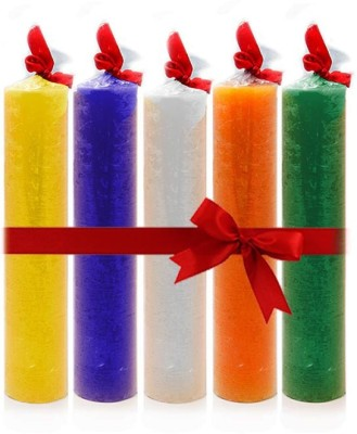 Yes No HOME / DECORATIVE CANDLES Fragranced Wax Tower- Set of 5. Candle