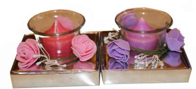 Fragrance Concoction Pack of lavender and strawberry fragrance votive Candle
