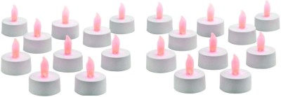 Rasmy Candles Led Tea Lights Multicolour Pac Of 20 Candle(Multicolor, Pack of 20)