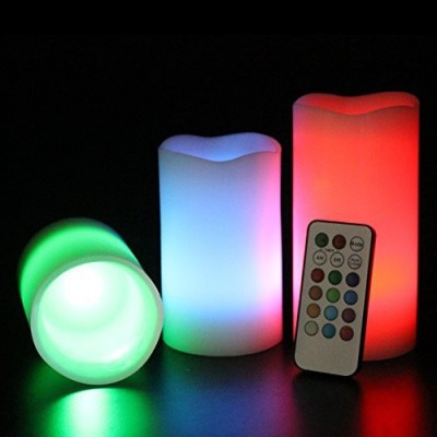 Everything Imported Romantic Remote LED Real Wax With Fine Fragrance Candle