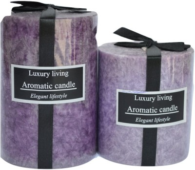 Maxime Scented Marble Pillar Candle