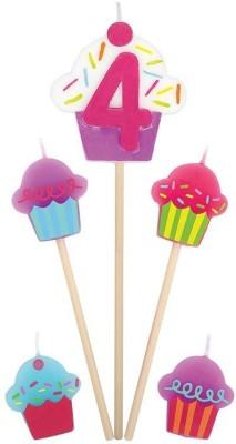 Amscan International Birthday Pick Cupcake No 4 Candle