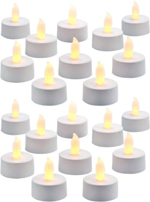 DIZIONARIO Led Flickring Tea Light Candle Yellow Set Of 20 Candle