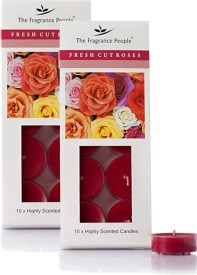 The Fragrance People Acrylic Base Candle(Red, Pack of 2)