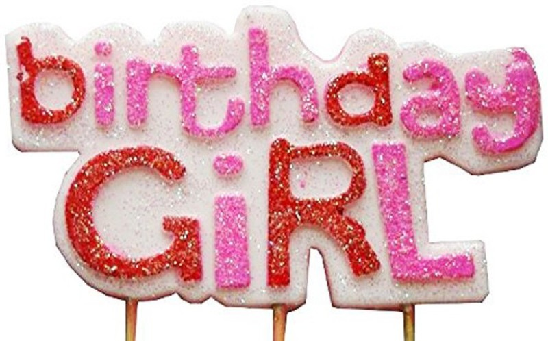 Nxt Gen Birthday Girl Candle(Multicolor, Pack of 1)