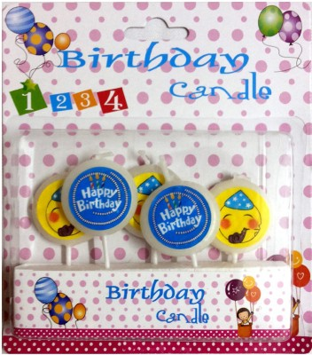 Priyals Birthday Cake - 5 White Lollipops Shaped Theme Party Candles Candle