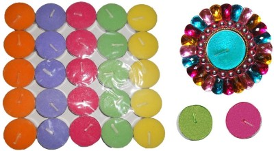 Rasmy Candles Multicolour Tealight Stone Water Floater Combo Candle