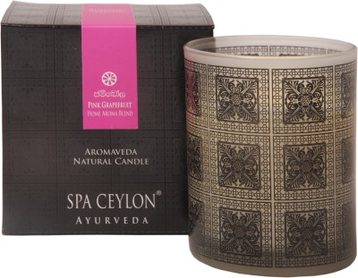 Spa Ceylon Luxury Ayurveda Pink Grapefruit Home Aroma Blend Natural Candle