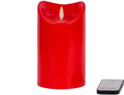 JewelandGifts Electronic LED with Remote Candle(Red, Pack of 1)