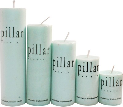 DIZIONARIO GreenApple Pillar Wax Set Of 5 Candle