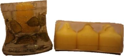Furnish Garnish Yellow Gel Glass Holder Candle