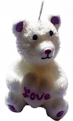 Azone Shopping Teady Bear White Candle