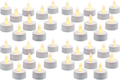 DIZIONARIO Led Flickring Tea Light Candle Yellow Set Of 40 Candle