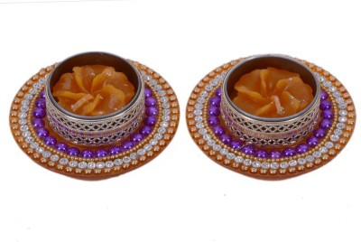 Sunvi Antique Decorative Beads Flower Shaped Scented Candle