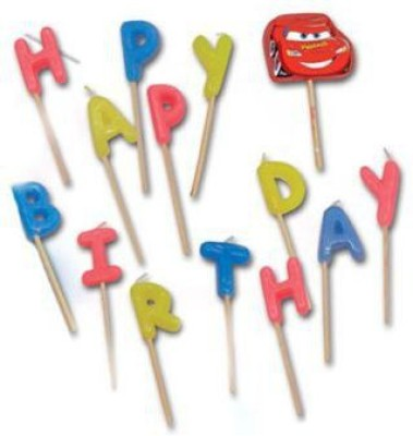 Disney Cars Party Favors Happy Birthday Toothpick Candle